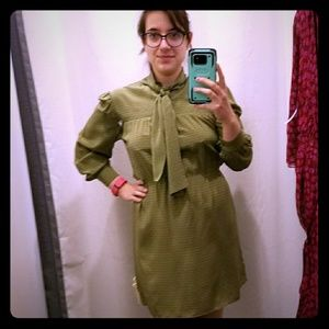 Olive color Amanda Uprichard dress